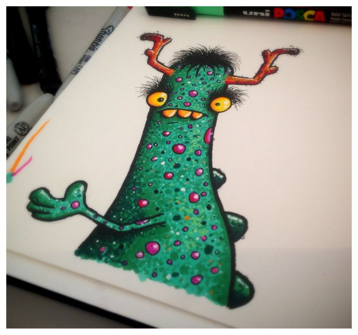 Page from sketchbook #monster #illustration #weird
