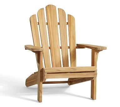 Teak Adirondack Chair #potterybarn