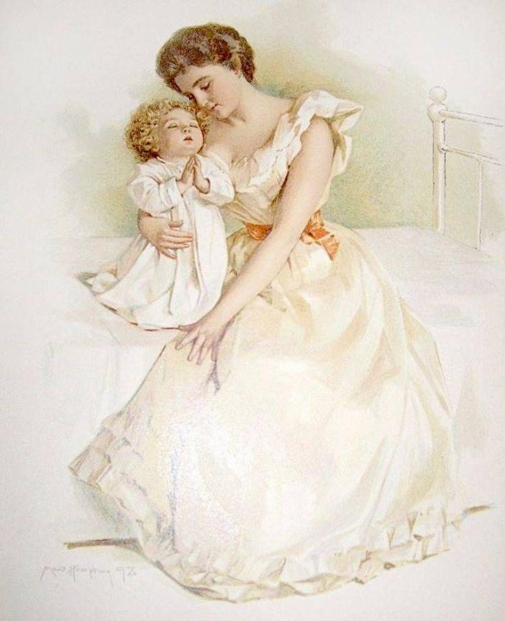Открытки с днем рождения дочери для мамы ретро