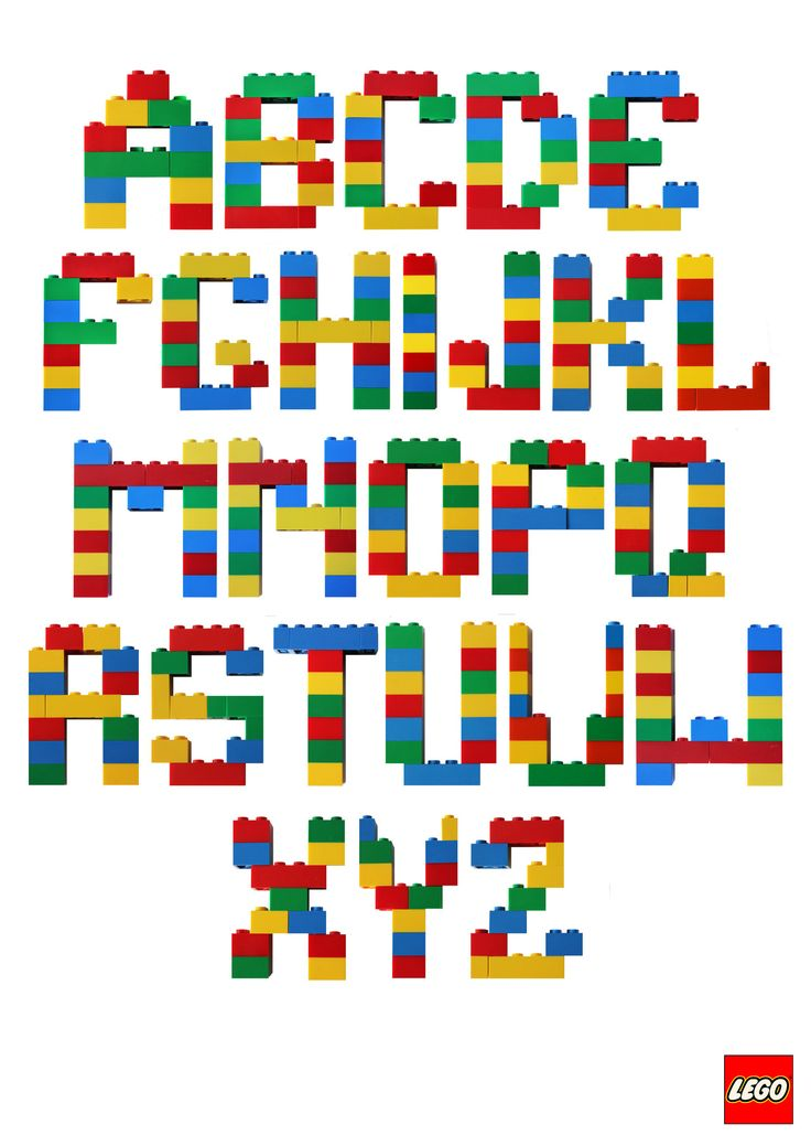 Letters Made Out Of Lego