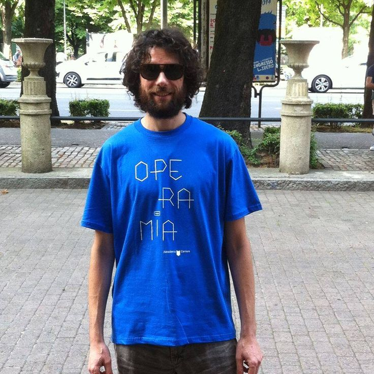 Giovanni, contributor with #operamia t-shirt crowdfunding projoct 2014