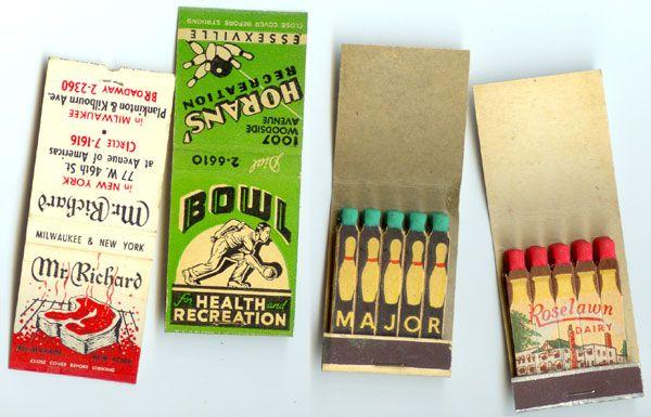 Bowling Inspired Vintage_Matchbooks