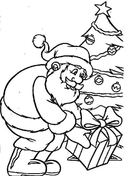 25 unique Santa coloring pages