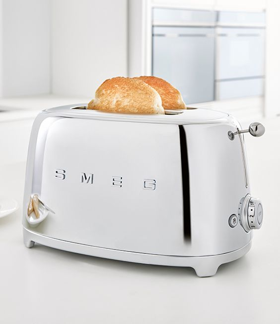 With Its Iconic Styling, The Smeg 4 Slice Toaster Will Add A Retro Style To  Any Kitchen, And Is Available In A Range Of Colours So You Can Pick The One  ...