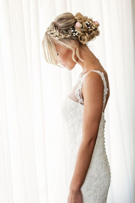 Bridal Hair Style with flowers.