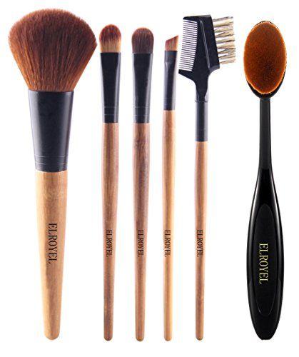 Makeup Brush Set | 6 Piece Basic Essential No Shed No Animal Hair Super Soft Low Price Great Quality For Quick Makeup Touch Up To Carry In Your Purse On The GO * More info could be found at the image url.