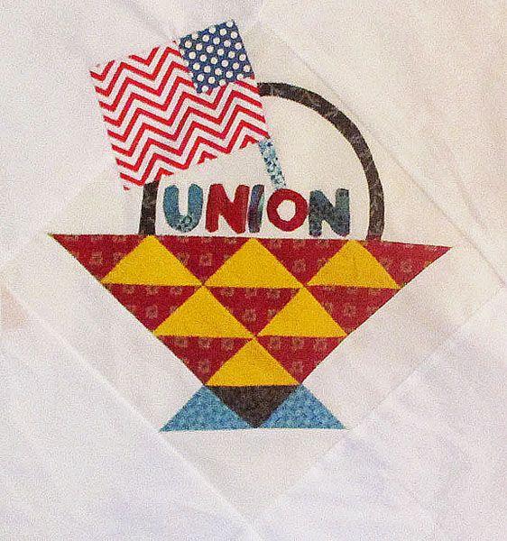 Block 5 Union Basket  by Barbara Brackman