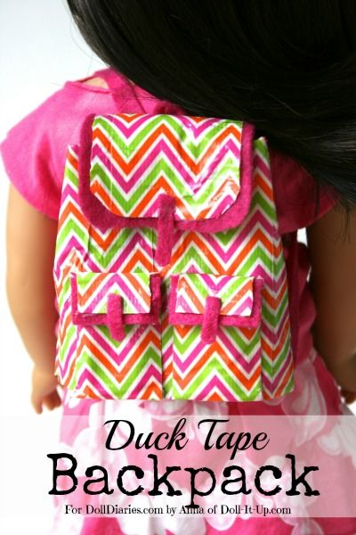 Doll Craft- Make a Trendy Doll Backpack from Duck Tape