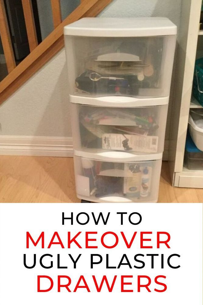Easy And Cheap Plastic Drawer Makeover Idea In 2020 Plastic Drawer Makeover Upcycle Storage Plastic Drawers
