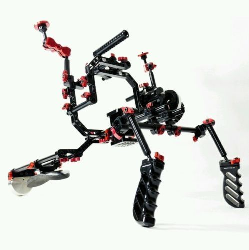 Advanced Extreme 17 SHOULDER RIG (w BP7 Baseplate) for DSLR & VIDEO CAMERA #ginirigs
