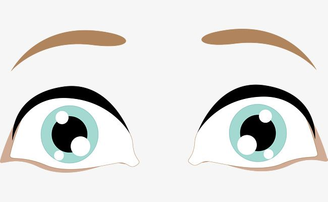 Beautiful Big Eyes Vector Big Eyes Cartoons Png Cartoon