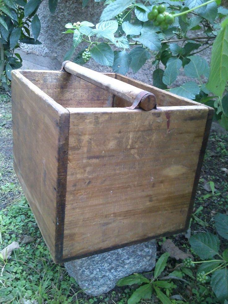 Caja de madera antigua para herramientas pintar cajas - Caja madera antigua ...