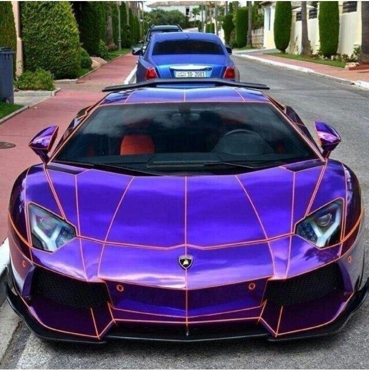 Purple Chrome Lamborghini Aventsdor... #cars #sportscars # ...