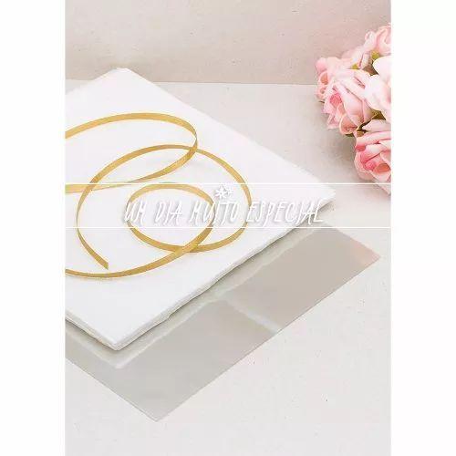 papel crepom branco, celof 120und+ fita cetim dourado 100mx4