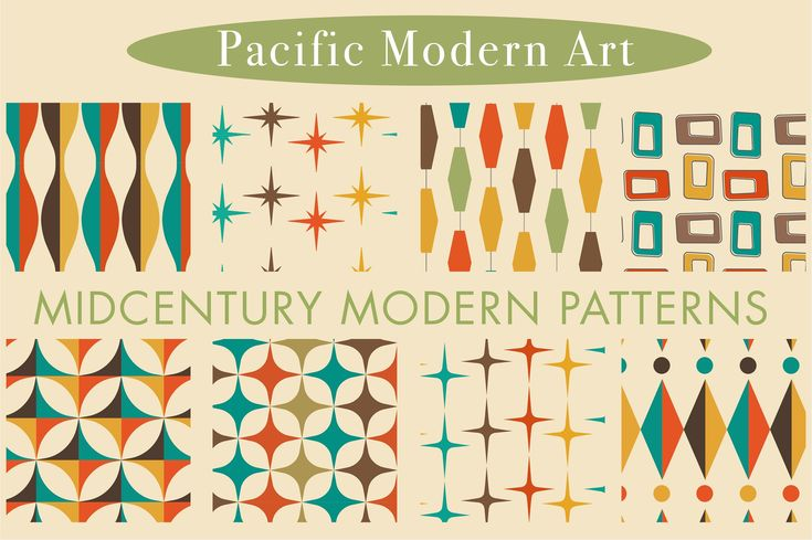 Mid Century Modern Patterns Vol 2 by Pacific Moder…