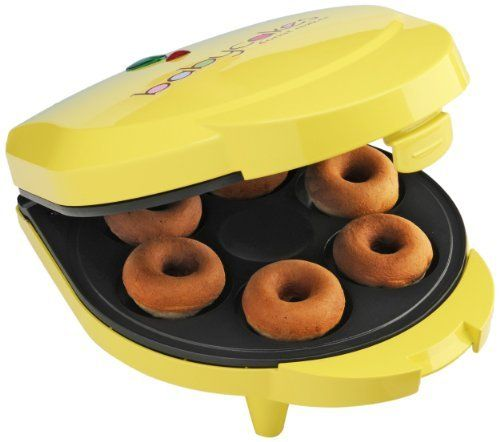 Babycakes DN-6 Mini Doughnut Maker, Yellow, 6 Donut by Select Brands Inc (Kitchen), http://www.amazon.com/dp/B005PO9TT4/ref=cm_sw_r_pi_dp_B4Kfsb1M8NN45
