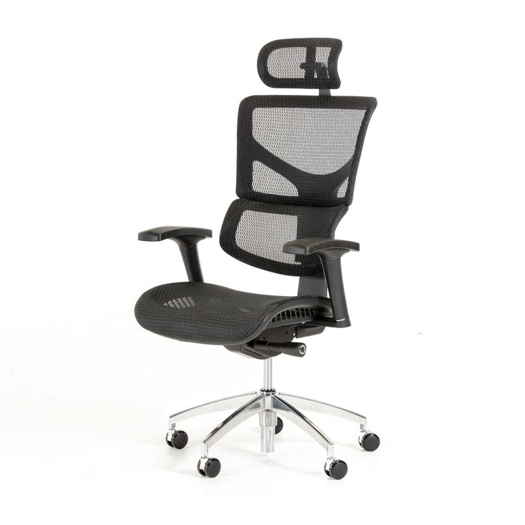 Modrest Franklin Modern Black Office Chair. The Modrest Franklin Modern Black Office Chair is ergonomically designed featuring a multi-functional mechanism that allows adjustment of the seat height, seat depth, back rest tilt tension, back rest tilt angle, headrest, armrests and arm pads and a cushioned seat. It also features a flexible lumbar support, a swivel base, gas lift, a 5-point rolling aluminum base and PU castors for easy maneuverability while working. The odor and fade...