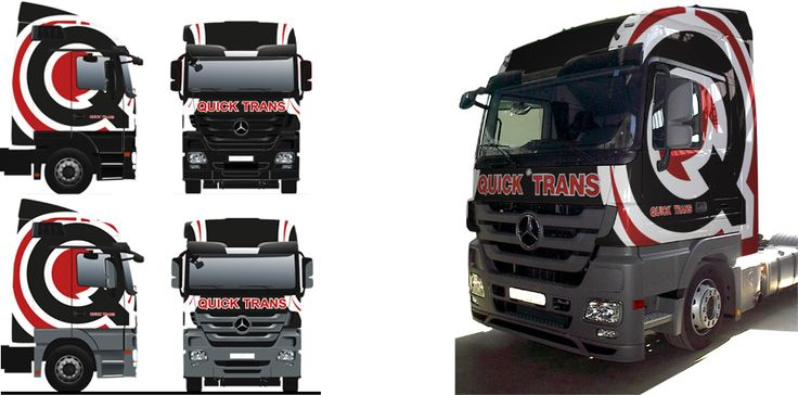 Quicktrans s. r. o. - design and wrap of the truck.