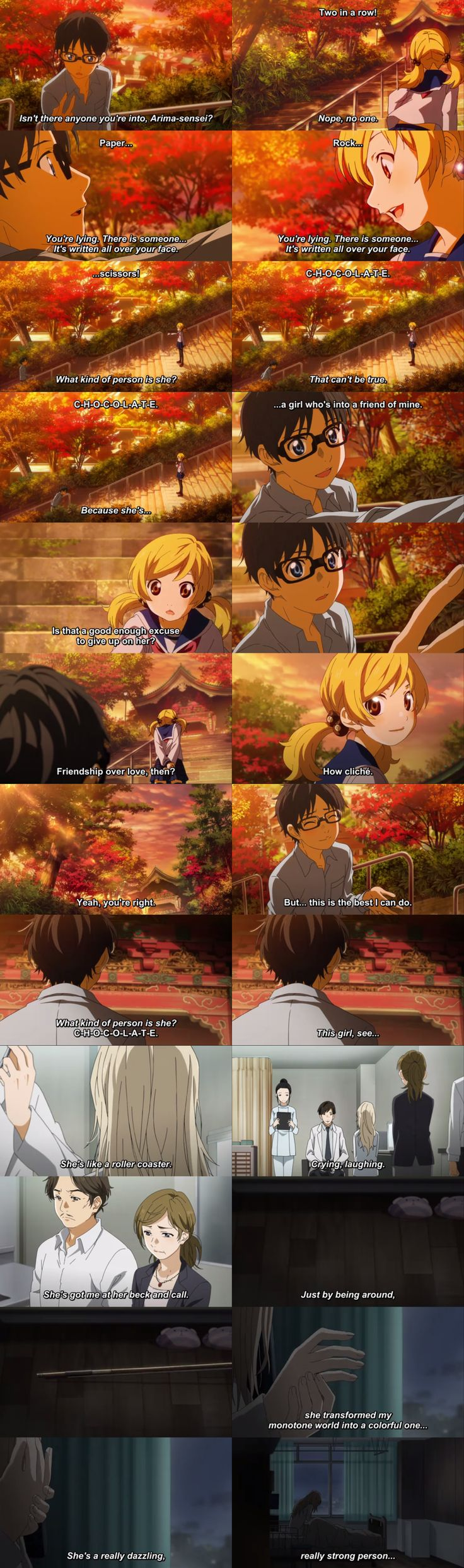 Please excuse me while I cry silently. T^T Your Lie in April