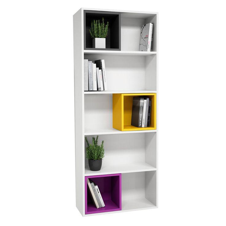 Alto Rectangular Bookshelf - White