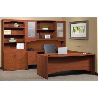 Brighton 6 Piece Series U Shape Desk Office Suite Office