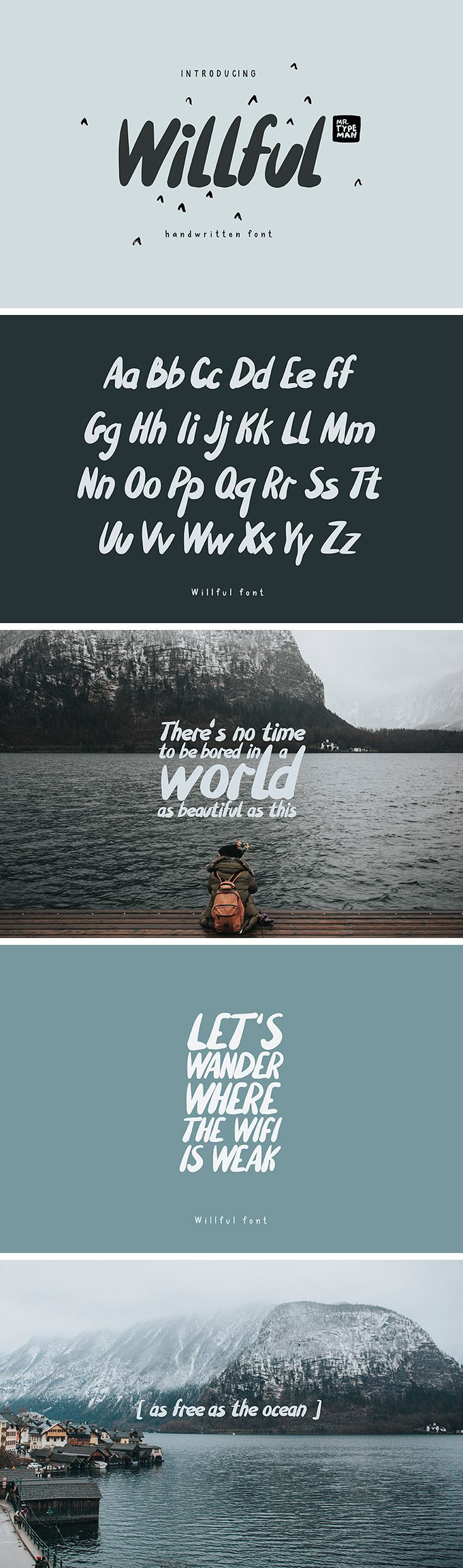 Willful Handwritten Brush Font - download freebie by PixelBuddha