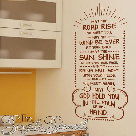 A Beautiful Simple Stencil Vinyl Wall Decal That Looks Beautiful Displayed In Your Irish Home A Vinyl Wall Lettering Vinyl Wall Vinyl Wall Art Quotes