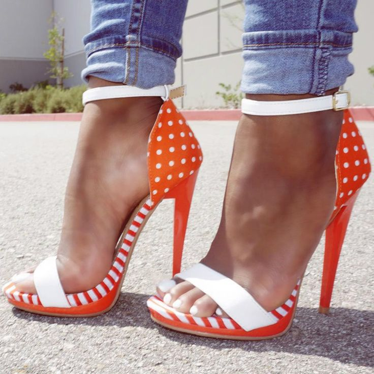 Multi Print Ankle Strap Heels