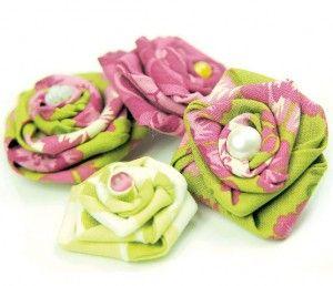 Мастер-класс - цветы из ткани