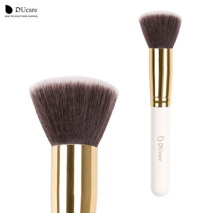 DUcare foundation brush 1 pz pennelli trucco professionale di alta qualità top capelli sintetici powder brush spedizione gratuita