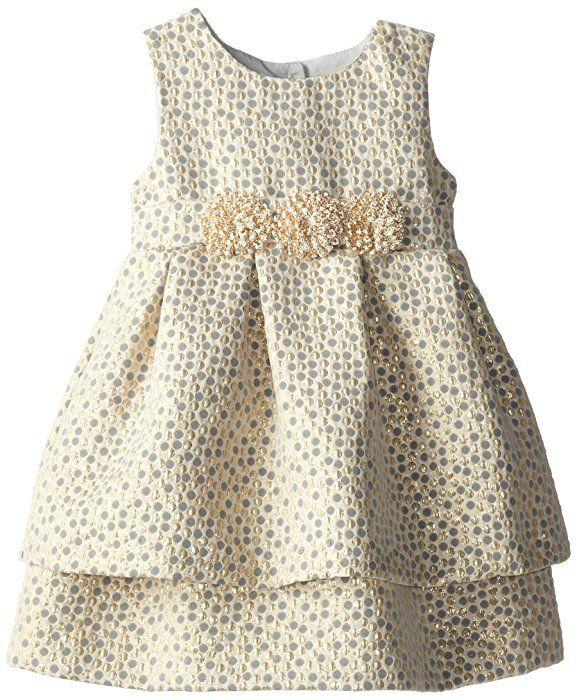 Amazon.com: Pippa & Julie Little Girls' Brocade Party Dress, Gold, 3T: Clothing