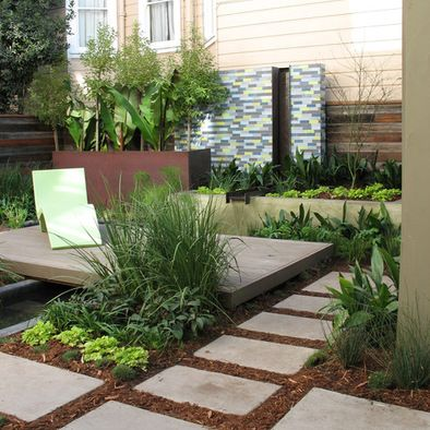 Central florida landscaping ideas photos floating deck for Paving ideas for small gardens