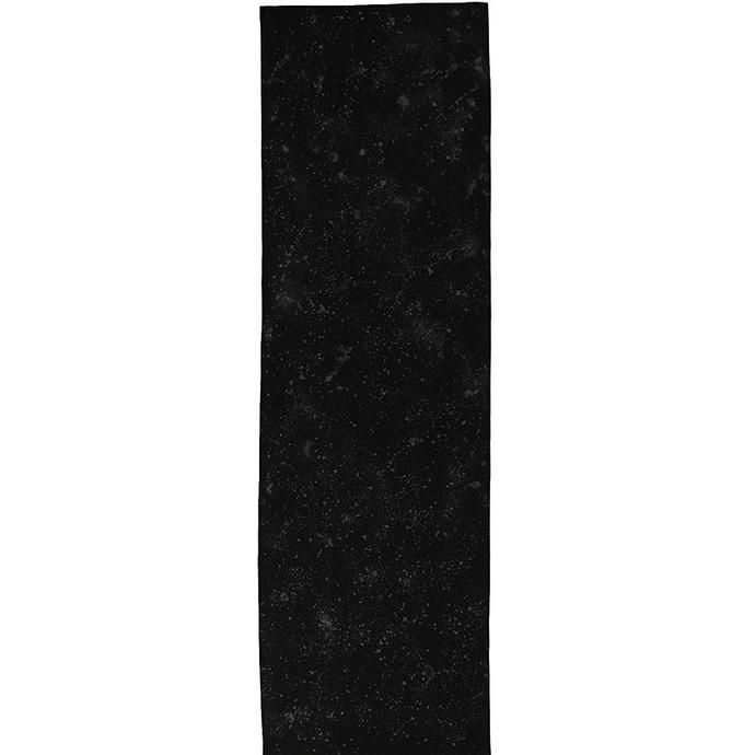 Black linen table runner with silver speckles