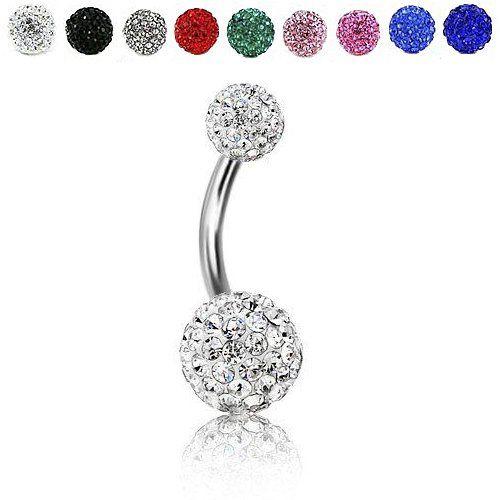 Piercing pour nombril boule / Anneau pour nombril – Blanc by KurtzyTM | Your #1 Source for Jewelry and Accessories