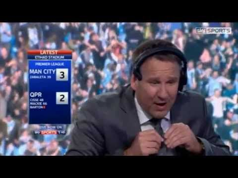 Manchester City Vs QPR 3-2 - Paul Merson Going Mental In The Studio - May 13 2012 - [High Quality]