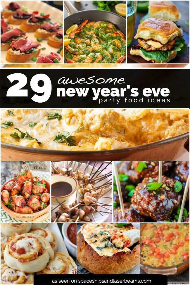 A New Year's Eve party calls for great food! This roundup of 29 savory appetizers will have guests raving all night long! With so many finger-licking choices it may be hard to narrow down the menu. Add a few dip recipes, a crowd favorite like meatballs or potato... #featured #food #newyearseve