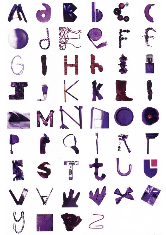 Purple Object Typography Typographies Purple Purple