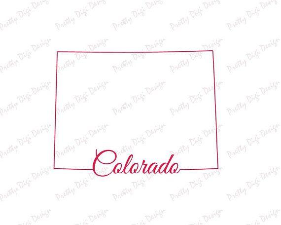 Digital Colorado line map shape design Colorado jpg png