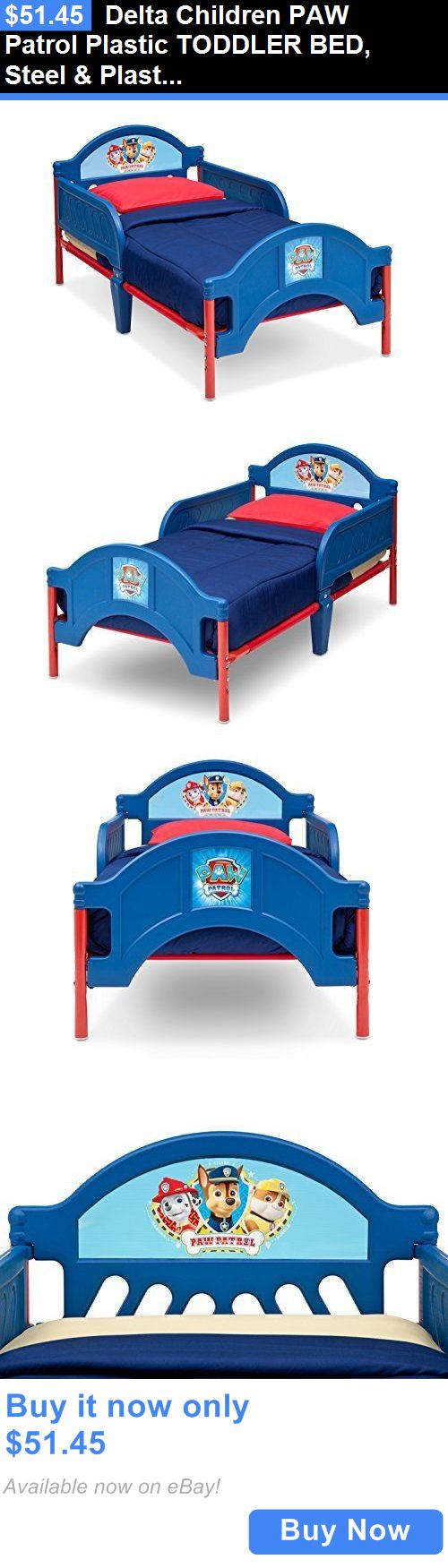 Kids Furniture: Delta Children Paw Patrol Plastic Toddler Bed, Steel And Plastic Frame Toddler Bed BUY IT NOW ONLY: $51.45