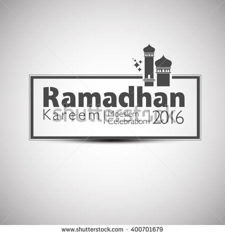 Ramadan Kareem 2016 in Mosque Concept. Vector Illustration - stock vector