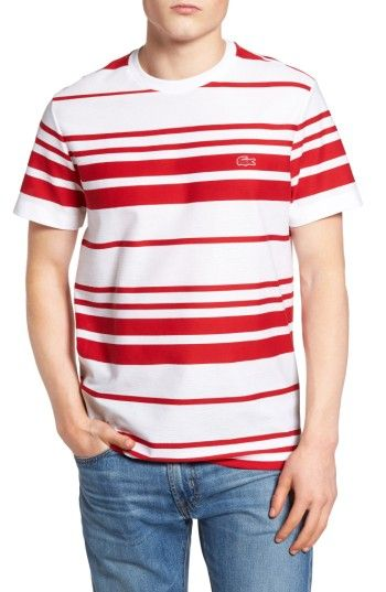 LACOSTE STRIPE T-SHIRT. #lacoste #cloth #