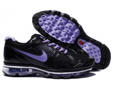 Nike Air Max 2010 Mens Running Shoes - Black/Purple