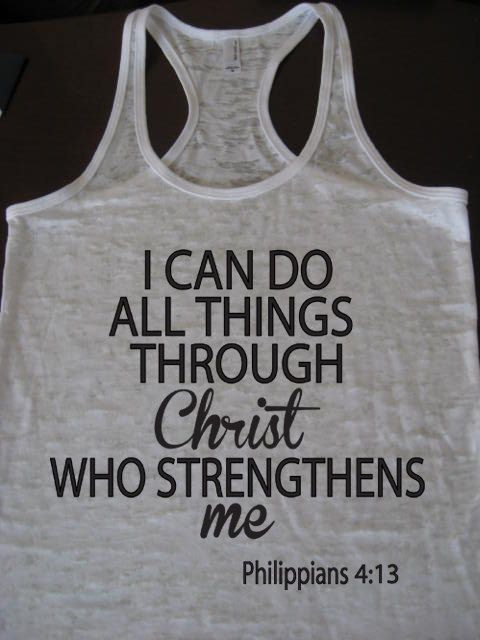 I can do all things through Christ who strengthens by WorkItWear, $21.95 #Philippians #Christ #strength