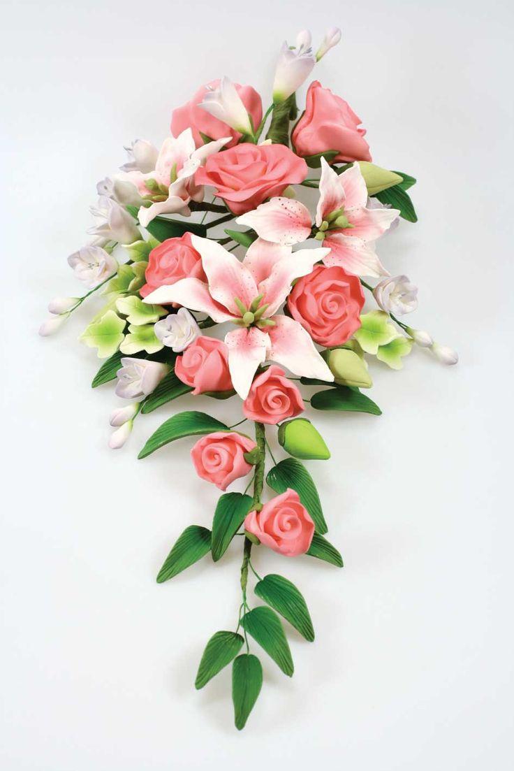 Sugar flowers bouquet.