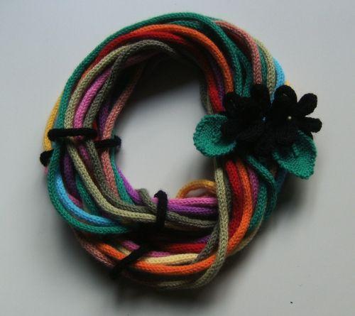 in lana, potrebbe sostituire la sciarpa