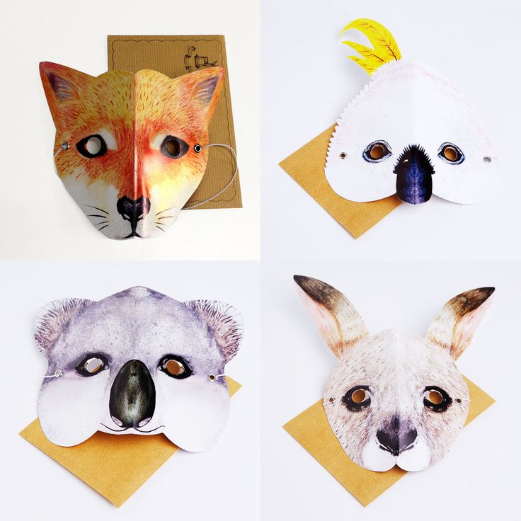 Australian Animal Mask Cards  http://tmod.com.au/catalog/maskcards