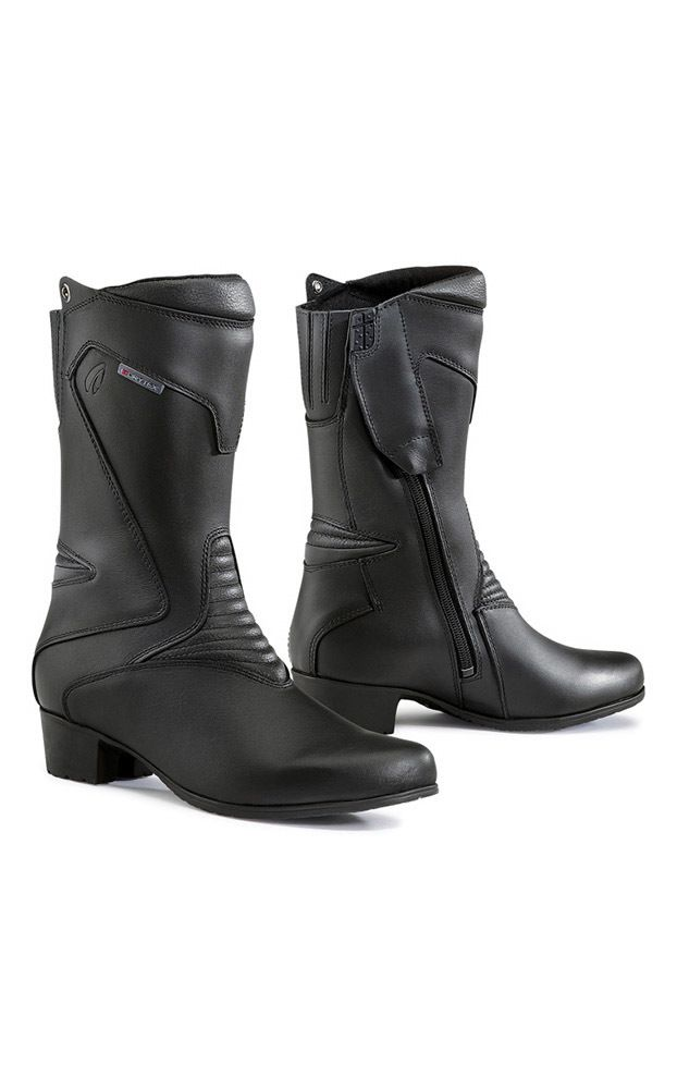 Forma Ruby Ladies Leather Motorcycle Boots - LadyBiker.co.uk