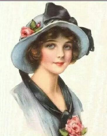 Vintage Young Lady.