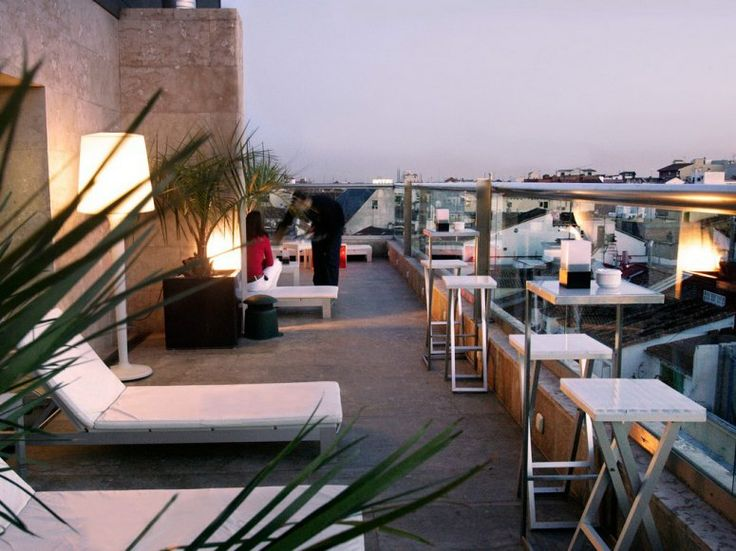 """LA TERRAZA DEL URBAN Madrid, Spain Hotel: Hotel Urban, Madrid What you'll see: Madrid's skyline, including Retiro Park to the east and the """"Madrid de los Austrias,"""" or old city center, to the west"""