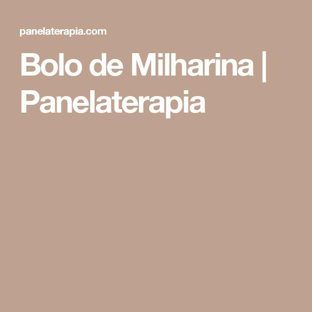 Bolo de Milharina  |   Panelaterapia
